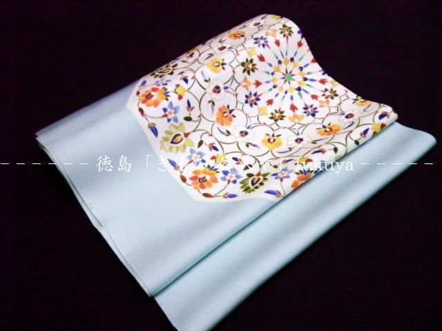 徳島 着物店 婦久や(ふくや) 紬 小紋 に最適の染なごや帯 皿取り 唐草 お洒落な名古屋帯