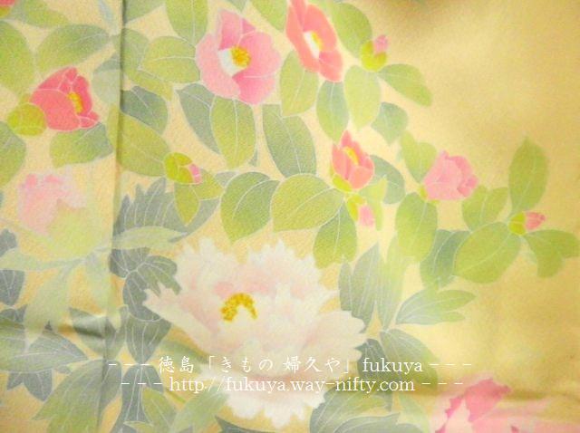着物 婦久や(ふくや)の 訪問着 ほうもんぎです。徳島の茶道 結婚式におすすめ