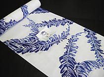 2018竺仙(ちくせん)浴衣反物・綿絽・芭蕉の葉 藍色ぼかし